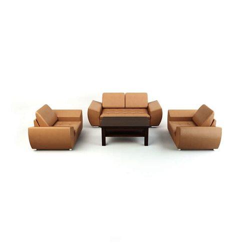 four peice living room couch set 3d model obj mtl 1