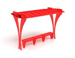 Device   Red Table 3D Model