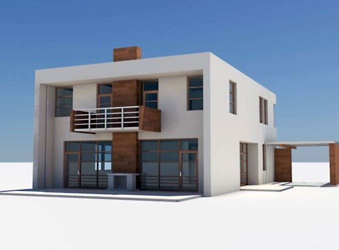 All 3d models flawlessy through all for Model villa moderne