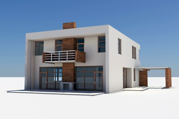Modern house 02 3d model max obj 3ds lwo lw lws House 3d model