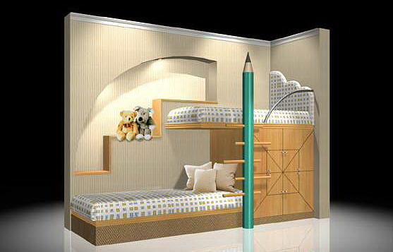 Kids Bedroom 3d Model kids bed 3d | cgtrader