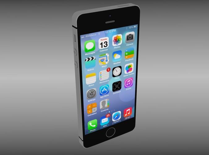 Iphone 5S Black3D model