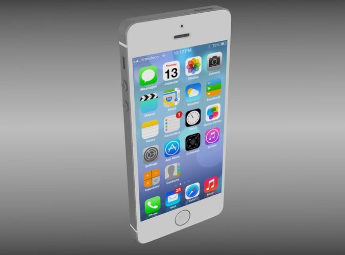 Iphone 5S White3D model