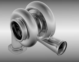 Animated turbo 3D Model
