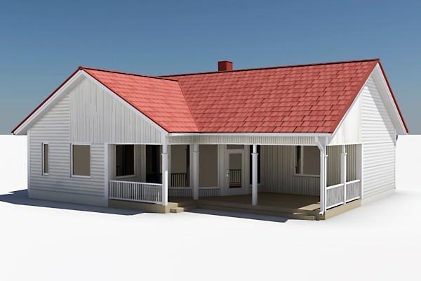 Textured House 053D model