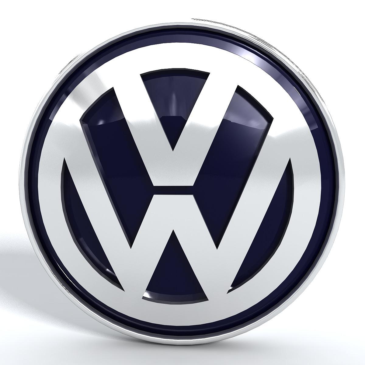volkswagen vw logo 3d model  max  obj  3ds  fbx  stl  dwg
