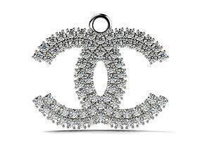 Channel Pendant 2 mm gems 3D printable model