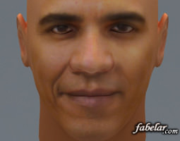 barak obama 3d model max obj 3ds