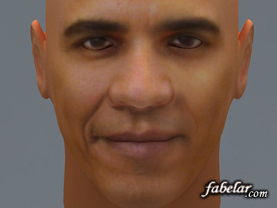 barak obama 3d model max obj 3ds 1
