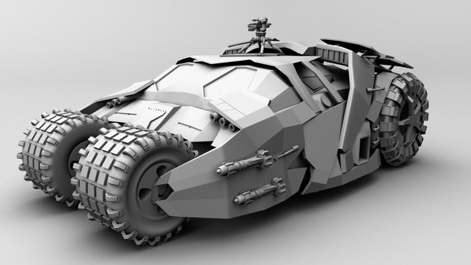 Detailed Modified Tumbler Batmobile 3d Model Ma Mb Cgtrader Com