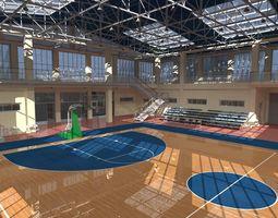 student Basketball Sport Hall 3D model