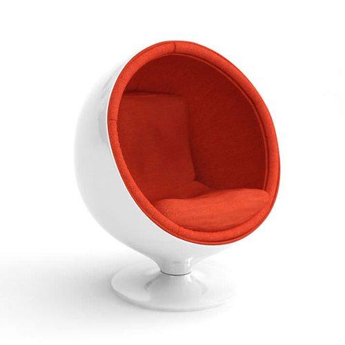 Retro White Egg Chair 3D model  sc 1 st  CGTrader & 3D model Retro White Egg Chair | CGTrader