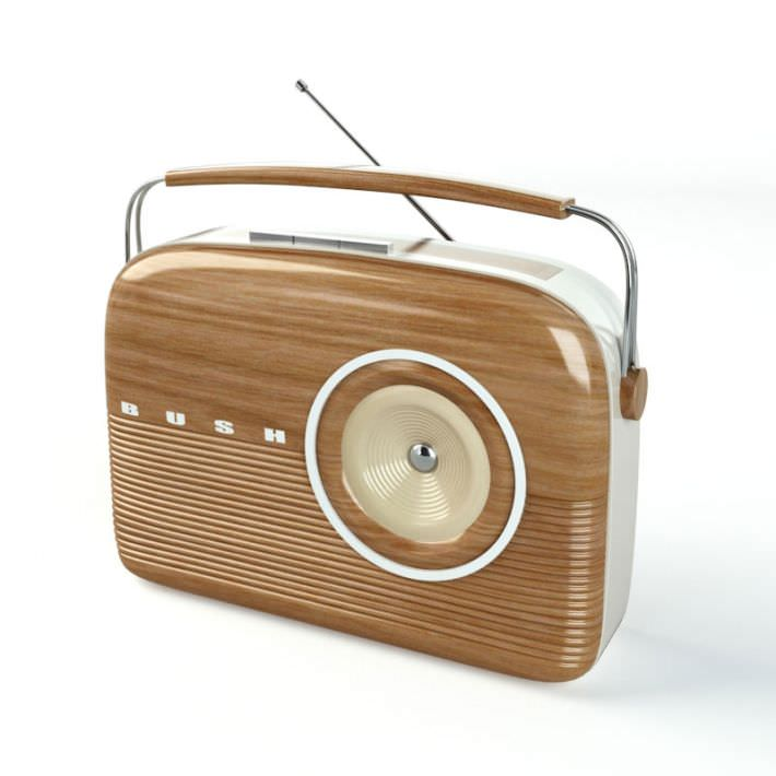 oldschool modern wooden radio 3d model cgtrader