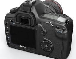 black photo camera 3d model obj
