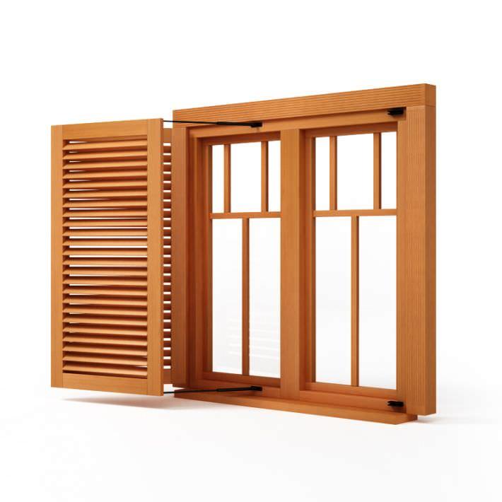 3D Wooden Window Shutter | CGTrader