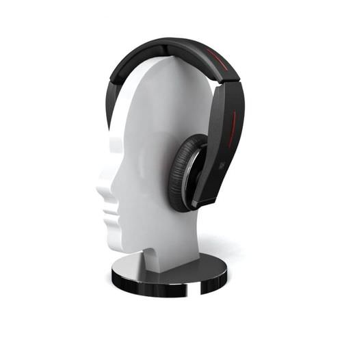 Modern Black Wireless Headphones3D model