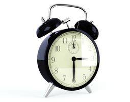 3D model Retro Black Alarm Clock