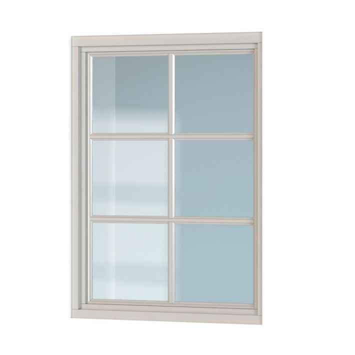 Classic white window 3d model for Window 3d model
