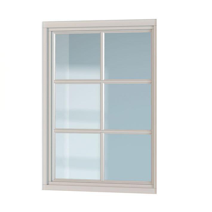Classic white window 3d model for Window 3d model