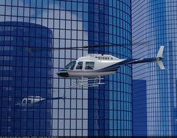 Bell Jetranger 206 Helicopter 3D Model
