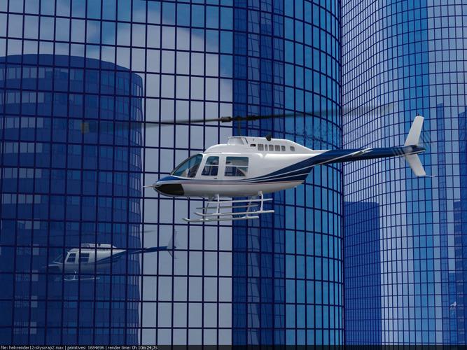 Bell Jetranger 206 Helicopter3D model