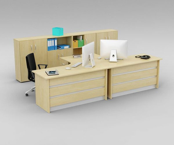 Two Person Office Desk With Matching