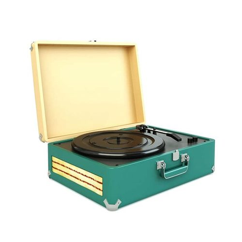 phonograph turntable for records 3d model obj mtl 1