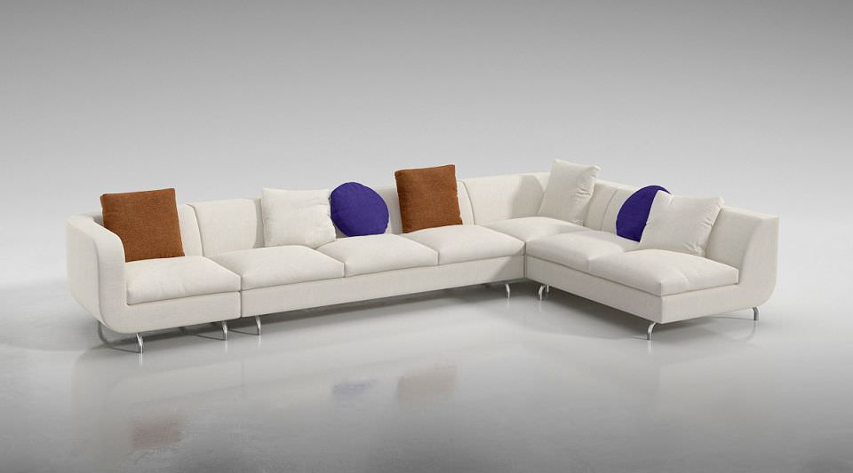 Modern Large Sofa Furniture. 3D Model - CGTrader.