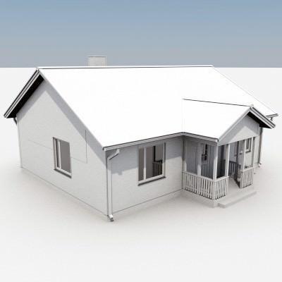 3d Model One Story House 03 Sample