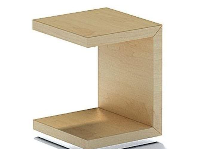 Shape Natural Wood Side Table 3D Model - CGTrader.com