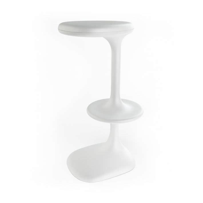White plastic bar stool 3d model - Witte plastic stoel ...