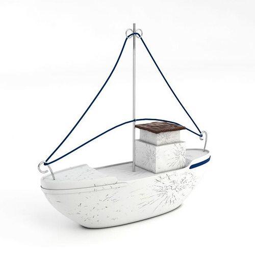 white model boat 3d model obj mtl 1