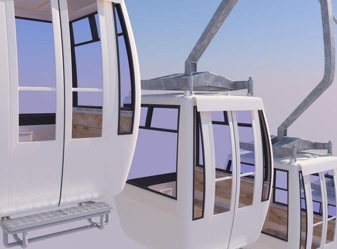 cableway car3D model
