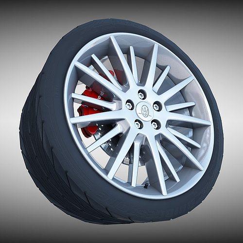 Maserati quattroporte gt s wheel 3d model cgtrader for Porte 3ds max