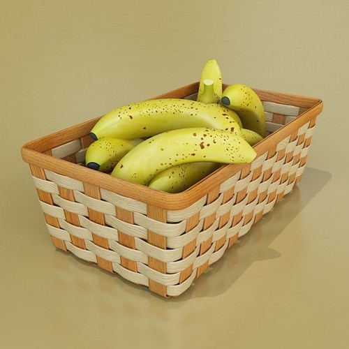 Fruits and Basket Collection 3D Model .max .obj .3ds .fbx