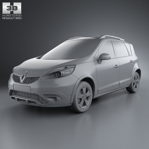renault scenic xmod 2013 3d model max obj 3ds fbx c4d lwo. Black Bedroom Furniture Sets. Home Design Ideas