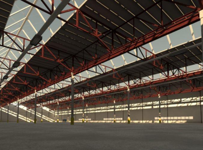 Industrial building3D model