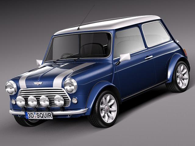 Mini Cooper S Classic 3D Model .max .obj .3ds .fbx .c4d .lwo .lw .lws - CGTrader.com