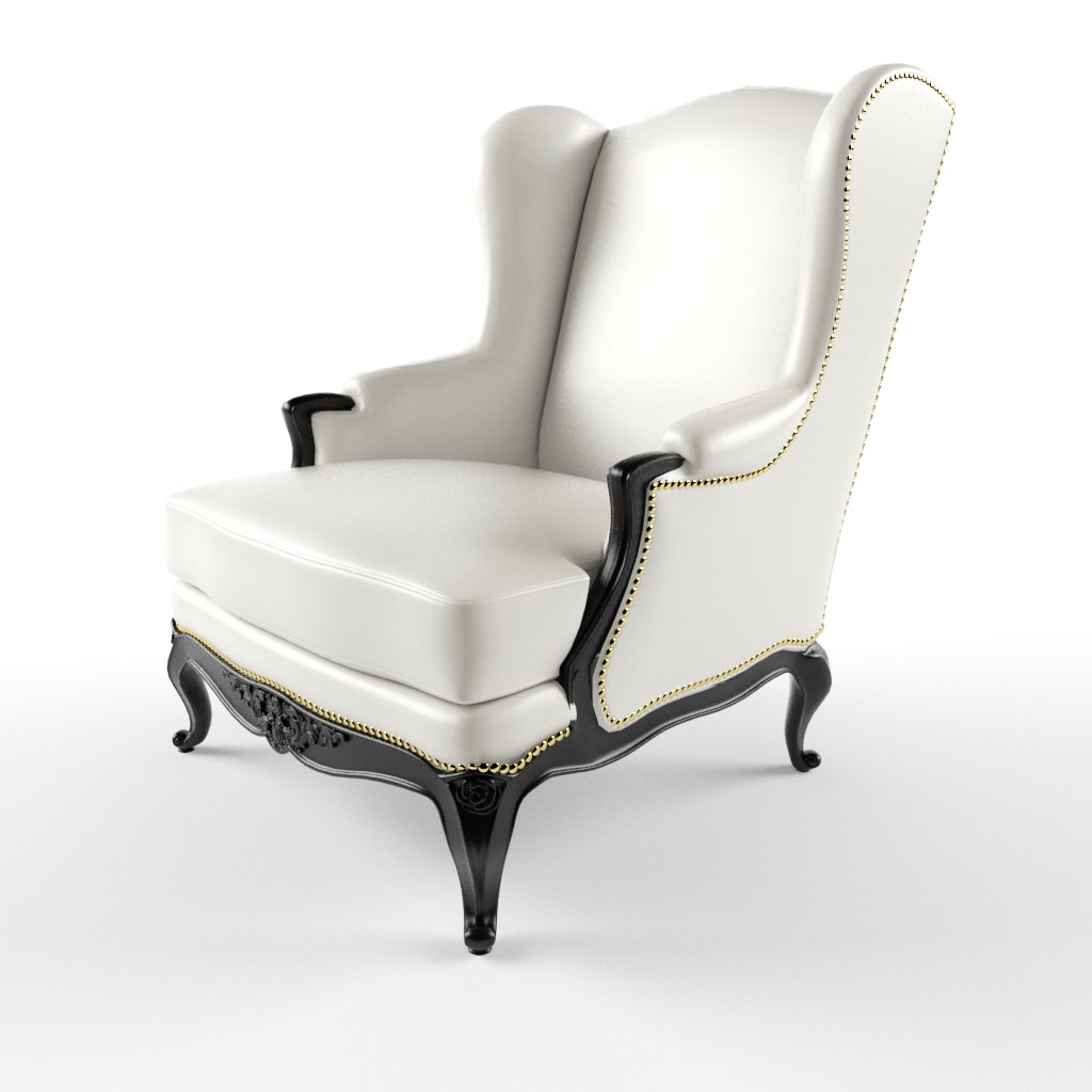 ... John Hutton Baron Wing Chair 3d Model Max 3 ...