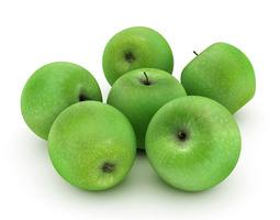 green apples 3d