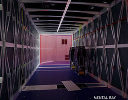 Corridor with sterile processing boxes 3D Model