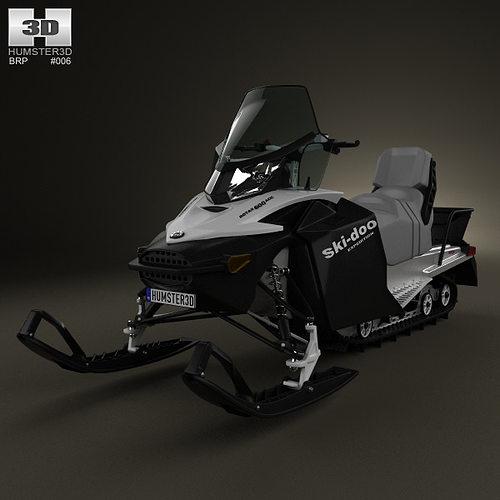 brp ski-doo expedition sport 2012 3d model max obj 3ds fbx c4d lwo lw lws 1
