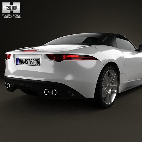 ... Jaguar F Type S Convertible 2013 3d Model Max Obj 3ds Fbx C4d Lwo Lw ...