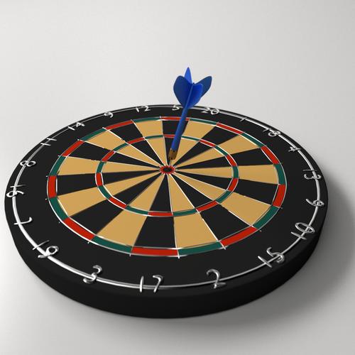 3d Model Dartboard And Dart