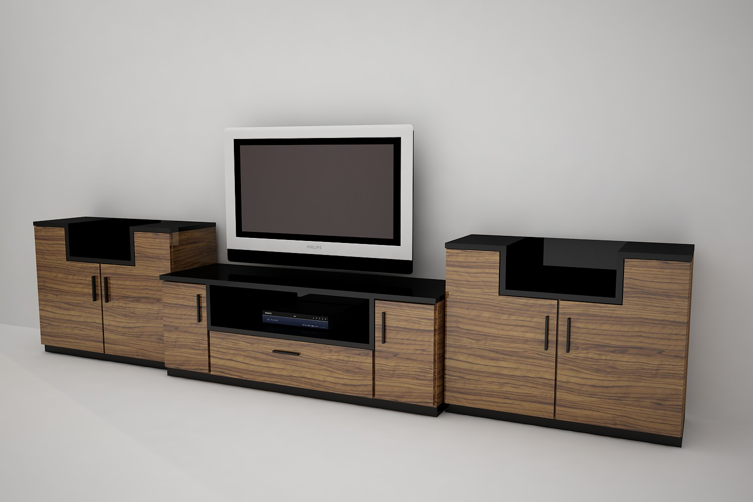 tv stand 3D Model max obj 3ds dxf  CGTradercom -> Modèle Table Tv