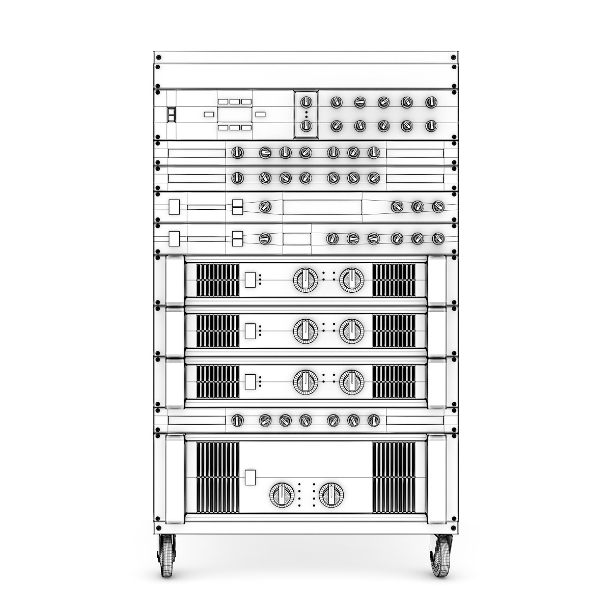 Audio Rack 1 3D model
