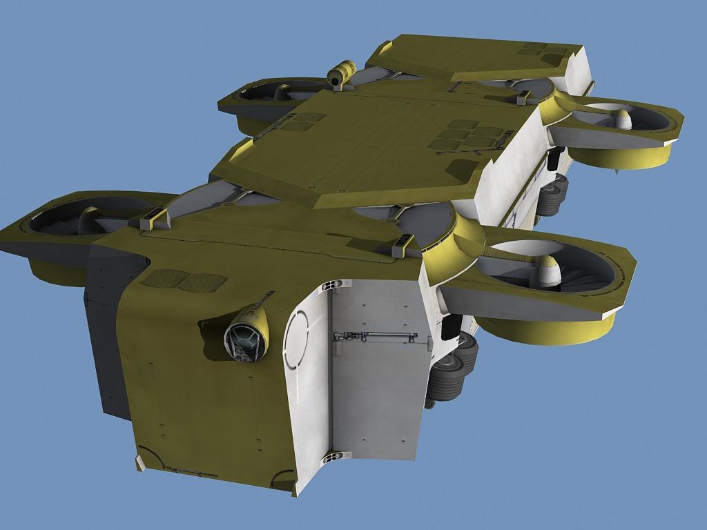 Hover bus | 3D model
