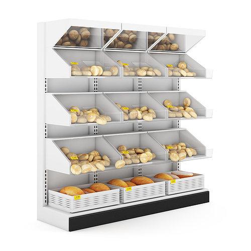 bread shelf 3d model max obj fbx c4d mtl 1