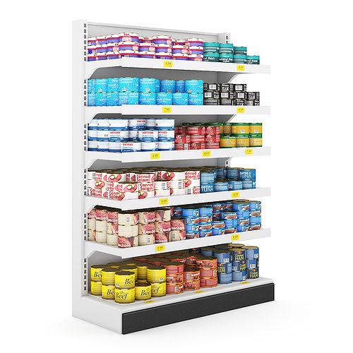 supermarket shelf 3d model max obj mtl fbx c4d 1