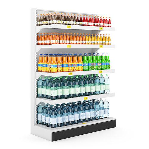 3d Model Supermarket Shelf 3d Cgtrader